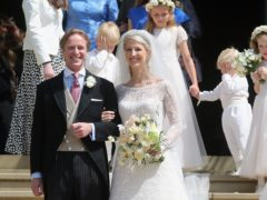 Thomas Kingston and Lady Gabriella Windsor after their wedding at St George's Chapel in Windsor (Chris Jackson/PA)