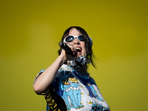 Billie Eilish performing at Glastonbury (Aaron Chown/PA)
