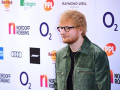 Ed Sheeran is on course for further chart success. (Ian West/PA)