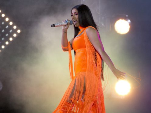 Cardi B performs on stage (Isabel Infantes/PA)