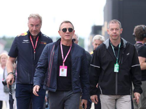 Daniel Craig attending the British Grand Prix at Silverstone (David Davies/PA)