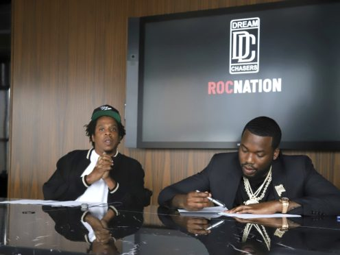 Jay-Z, left, and Meek Mill (Greg Allen/Invision/AP)
