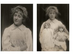 Agatha Christie, aged eight, at her childhood home in Devon (The Christie Archive Trust/PA)