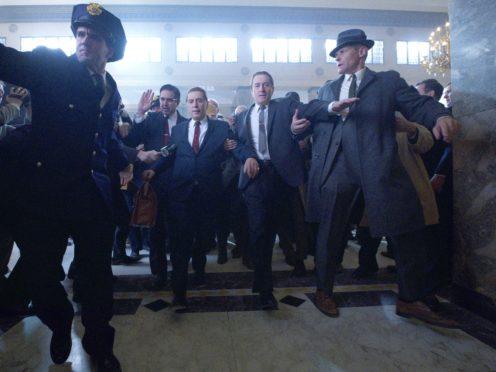 Ray Romano as Bill Bufalino, Al Pacino as Jimmy Hoffa and Robert De Niro as Frank Sheeran (Netflix)