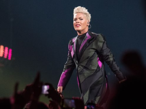 Pop star Pink joined support for the Duke and Duchess of Sussex after they were criticised for their use of private jets (Katja Ogrin/PA)