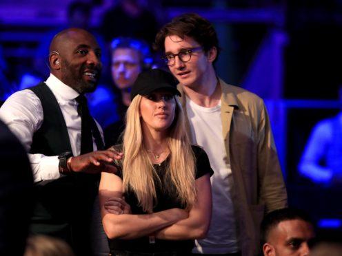Ellie Goulding at the O2 Arena, London, with Caspar Jopling. (Bradley Collyer/PA)