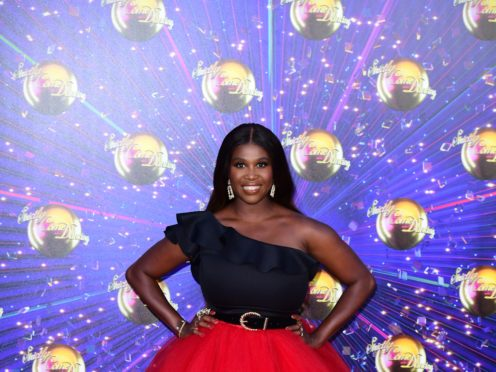 Motsi Mabuse arriving at the red carpet launch of Strictly Come Dancing (Ian West/PA)