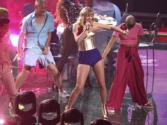Taylor Swift performs a medley at the MTV Video Music Awards (Matt Sayles/Invision/AP)