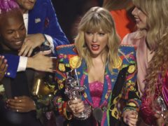 Taylor Swift had a dig at Donald Trump after winning the biggest prize of the night at the Video Music Awards (Matt Sayles/Invision/AP)