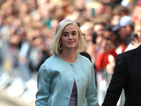 Katy Perry arriving for the wedding (Peter Byrne/PA)