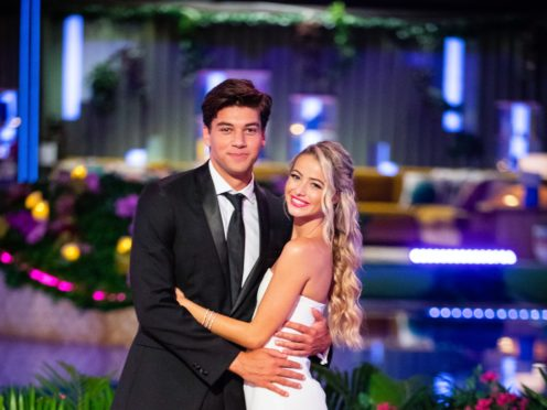 Zac Mirabelli and Elizabeth Weber have been crowned the winners of Love Island USA (CBS/PA)