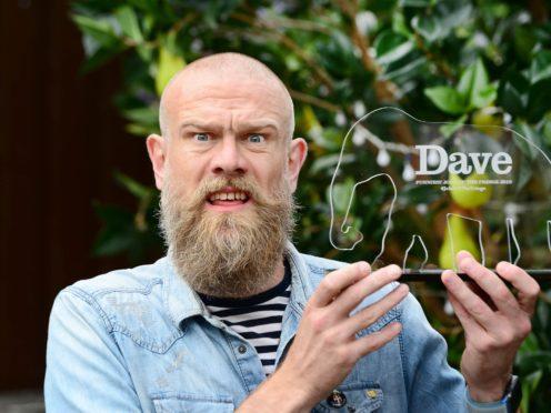 Comedian Olaf Falafel wins the Dave Joke of the Fringe 2019 award. (UKTV Dave/Martina Salvi)