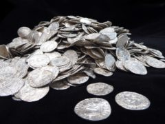 Coins from the Chew Valley find (British Museum/PA)