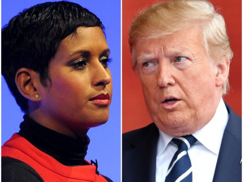 Naga Munchetty was reprimanded over comments about Donald Trump (PA)