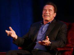 Arnold Schwarzenegger teased Sylvester Stallone on Twitter (Yui Mok/PA)
