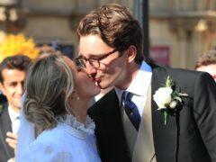 Newly married Ellie Goulding and Caspar Jopling (Peter Byrne/PA)