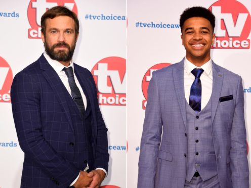 Jamie Lomas and Asan N'jie were at the TV Choice Awards (Matt Crossick/PA)