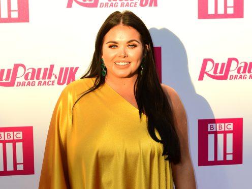 Scarlett Moffatt attending the RuPaul's Drag Race red carpet (Ian West/PA)