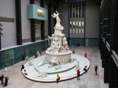 New York-based artist Kara Walker's new Hyundai Commission work Fons Americanus is unveiled during a media event in London's Tate Modern Turbine Hall (Jonathan Brady/PA)