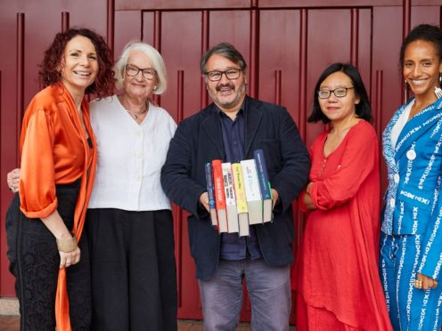Booker Prize judges (lL-R) Joanna MacGregor, Liz Calder, Peter Florence, Xiaolu Guo, Afua Hirsch. (Booker Prizes)