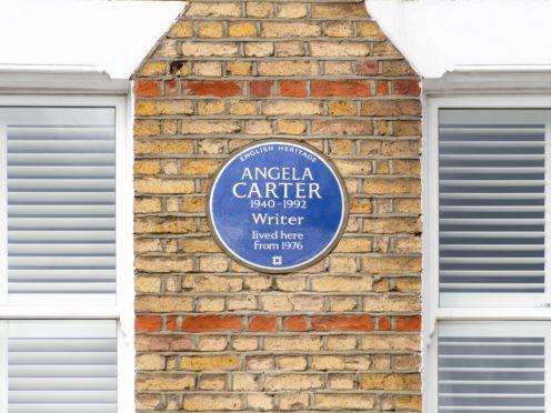 Angela Carter blue plaque (English Heritage)