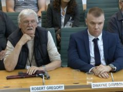 Robert Gregory and Dwayne Davison (House of Commons/PA)