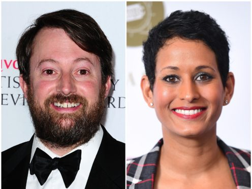 David Mitchell defended the BBC over its handling of the Naga Munchetty controversy (PA)