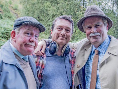 Still Game stars Ford Kiernan and Greg Hemphill with director Michael Hines (BBC Studios/Alan Peebles/PA)