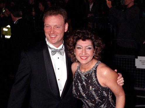Jane McDonald with Henrik Brixen (Ben Curtis/PA)