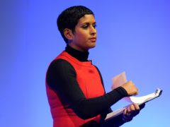 Naga Munchetty arrives at MediaCityUK in Salford to host BBC Breakfast (Peter Byrne/PA)