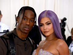 Kylie Jenner has broken her silence on reports she has split with Travis Scott (Jennifer Graylock/PA)