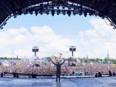Sir David Attenborough made an appearance at this year Glastonbury Festival (BBC/PA)