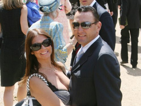 Vinnie Jones and his wife Tanya in 2009 (Lewis Whyld/PA)