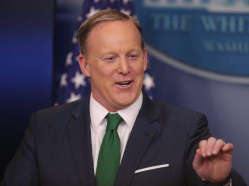 Former White House press secretery Sean Spicer (Niall Carson/PA)