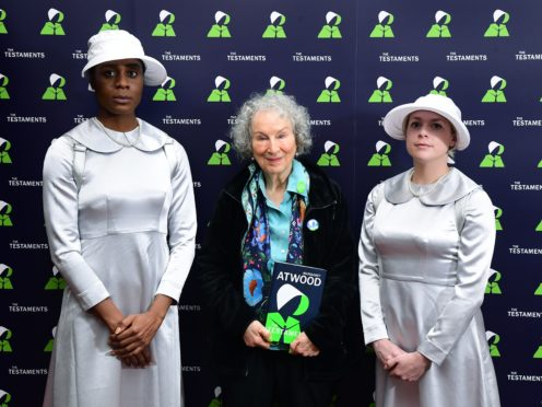 Margaret Atwood, during a press conference on the publication day of her book The Testaments (Ian West/PA)