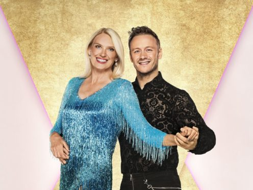 Anneka Rice with her dance partner Kevin Clifton (Ray Burmiston/BBC)
