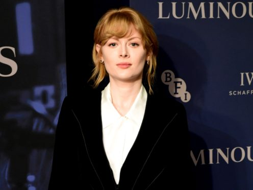 Emily Beecham attending the LUMINOUS Fundraising Gala as part of the BFI London Film Festival 2019 held at the Roundhouse in London (Ian West/PA)