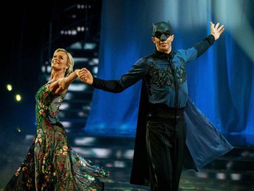 David James and his partner Nadiya Bychkova have survived two dance-offs (BBC/PA)