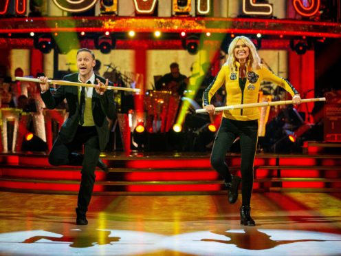 Kevin Clifton and Anneka Rice did not do enough with their Charleston. (Guy Levy/BBC/PA)