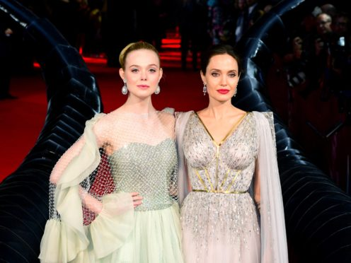 Elle Fanning and Angelina Jolie attending the Maleficent: Mistress of Evil European Premiere held at Imax Waterloo in London (Ian West/PA)