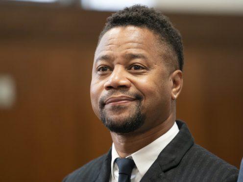 Cuba Gooding Jnr appeared in court n New York on Thursday (Steven Hirsch/New York Post/AP)