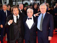 Al Pacino, Martin Scorsese and Robert de Niro attending the Closing Gala and International premiere of The Irishman (Ian West/PA)