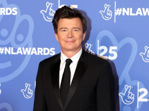 Rick Astley attending the 25th Birthday National Lottery Awards (Isabel Infantes/PA)