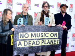 Jarvis Cocker makes Extinction Rebellion statement at Q Awards (Ian West/PA)