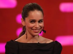 Emilia Clarke during filming for the Graham Norton Show (Isabel Infantes/PA)