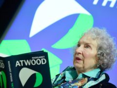 Margaret Atwood with her award after she was made a Companion of Honour (Aaron Chown/PA)
