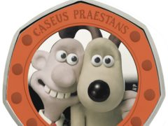 Detail on the Wallace and Gromit coin (Royal Mint)