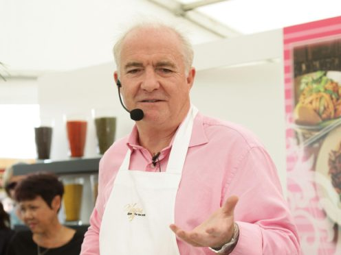 Chef Rick Stein during a cookery demonstration (Yui Mok/PA)