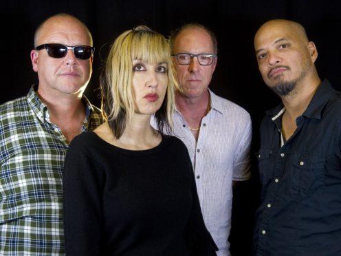 Rock band Pixies – (L to R) Black Francis, Kim Shattuck, David Lovering and Joey Santiago (Diane Bondareff/Invision/AP)
