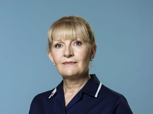 Cathy Shipton as Duffy in Casualty (Alistair Heap/BBC)